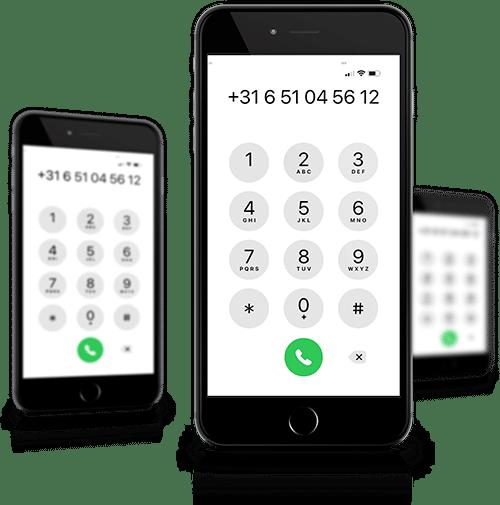Contact opnemen mobiele telefoon mock-up