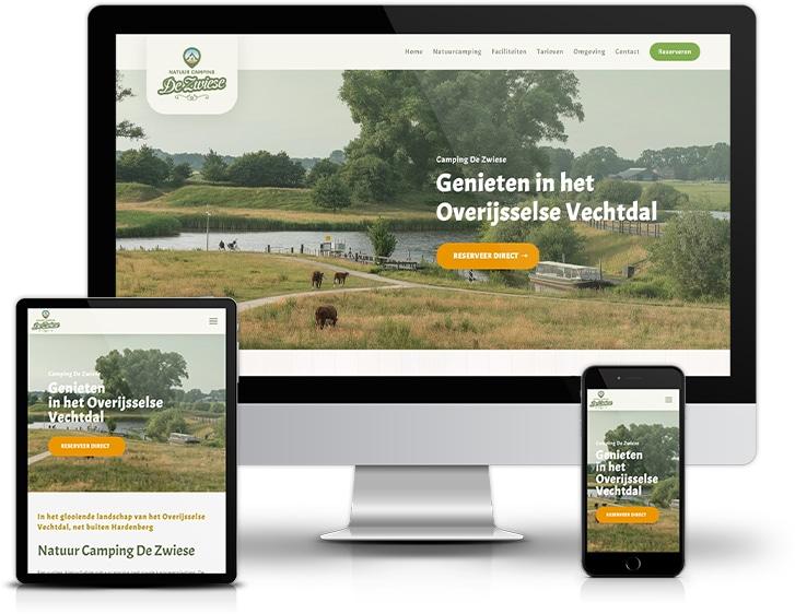 Camping de Zwiese | Webdesign | Ontwerp & Realisatie